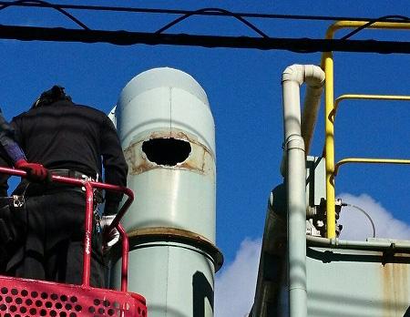 ダクト配管の修理