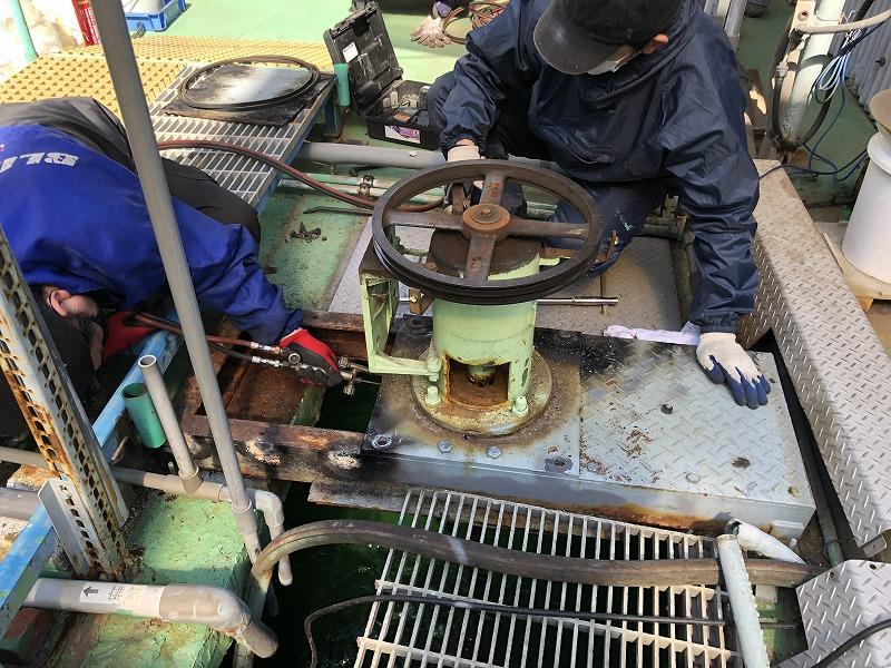 攪拌機の更新工事①